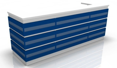 Visage Reception Desk 1 Blue