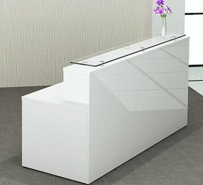 Polar Gloss White Recpetion Desk