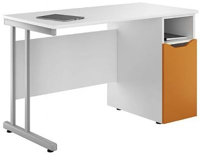 Uclic Kaleidoscope Desk With An Orange Door