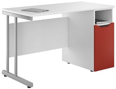 Uclic Kaleidoscope Desk With A Red Door