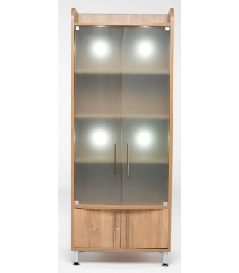 Tall Glass Cupboard 1