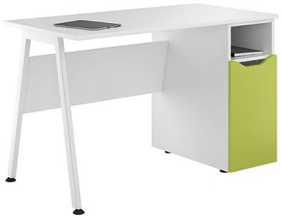 Inspre Desk With A Lime Green Door
