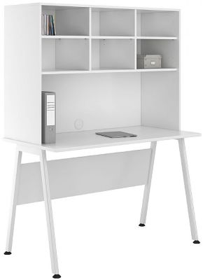 Uclic Aspire Desk With Open Hutch 1