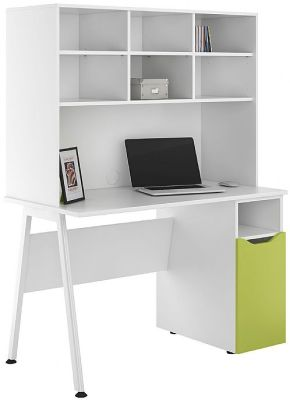 UCLIC Aspire Desk Witrh A Lime Bdopor And Open Hutch