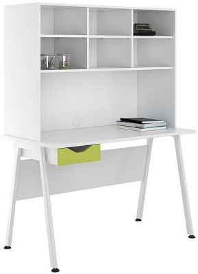 UCLIC Desk With Doors And Fronts In White