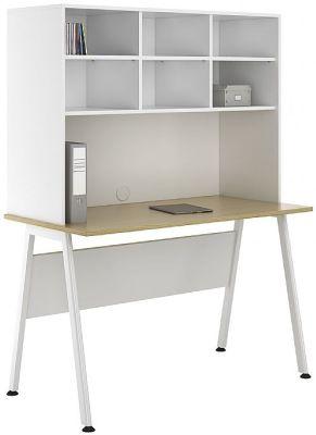 Aspire Sylvan Desk With Open Storaghe Hutch 1