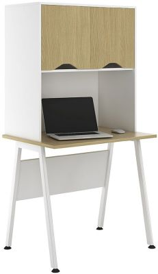 Aspire 800mmSylvan Desk With Overhead Cupboard