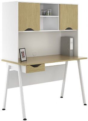 ASpire Sylvan Desk With Cupboards And Single Drawer