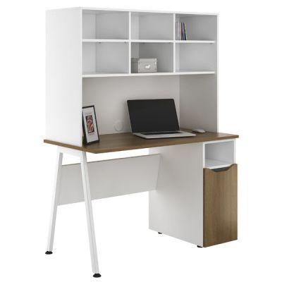Aspire Sylvan Cupboard Desk With Overhead Storage