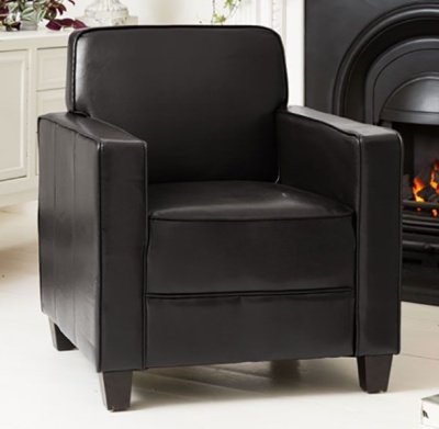 Moorgate Faux Leather Armchair