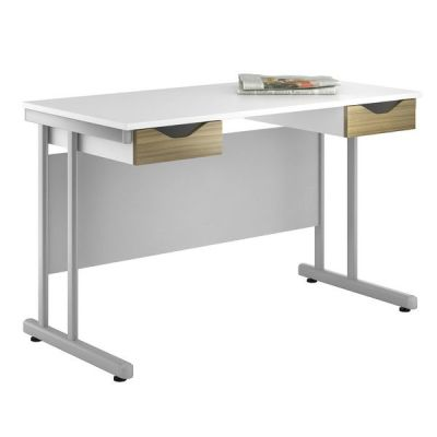 Uclic Create Reflections Desk With Light Olive Drawer Fronts