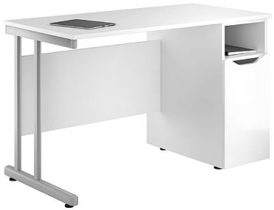Uclic Create Pedestal Desk With High Gloss Whyite Pedestal Door
