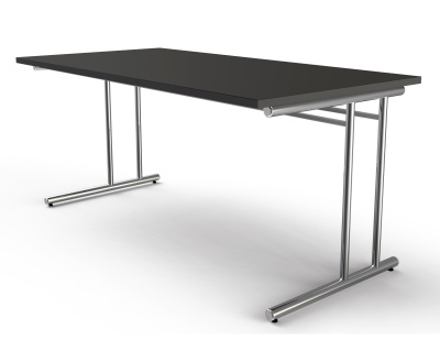 Artline Rectangular Desk Witrh Anthracite Top