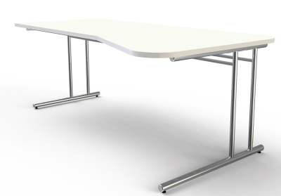 Artoline Single Wave Desk With A White Top
