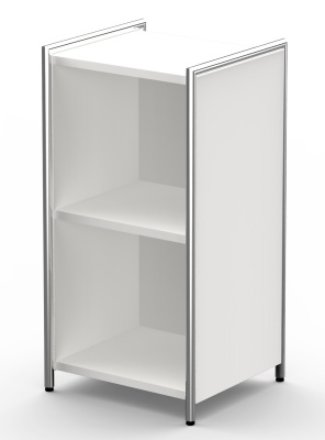Art;ine White Low Bookcase Unit