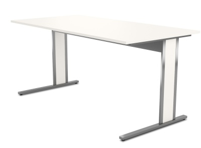 Aveto Cantilver Desk White Top
