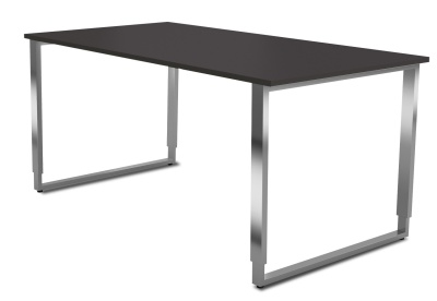 Avato Stainless Steel Desk With U Heighgt Adjustable Frame And Wenge Top