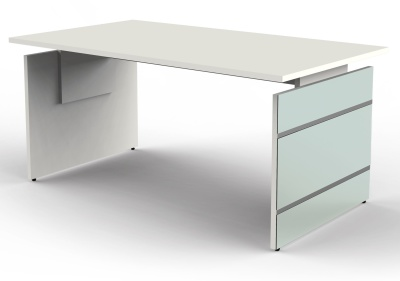 Legano Height Adjustable Executive Desk With A White Top