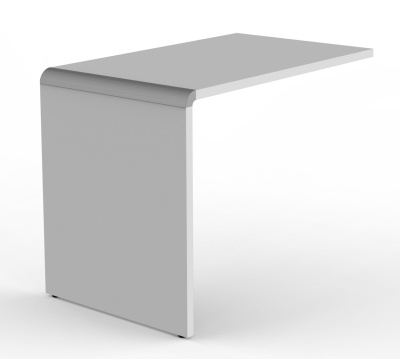 Modem Desk Return In Grey