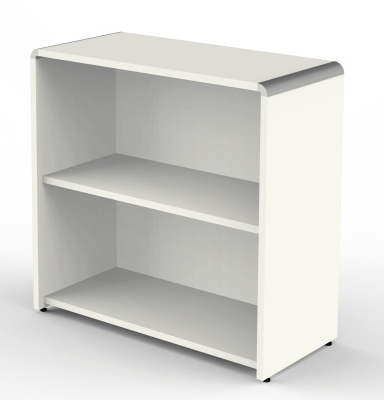Modus Wide Bookcase In White
