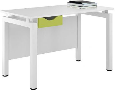 UCLIC Engage Desk With A Lime Green Drawer Front