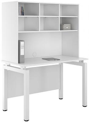 UCLIC Engage Desk With Overhead Storage 2
