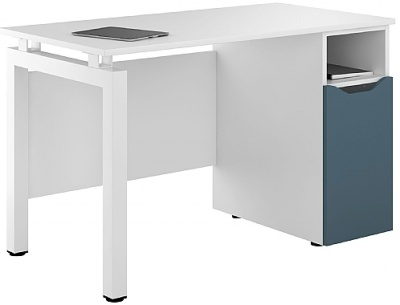 UCLIC Engage Desk With A Steel Blue Door