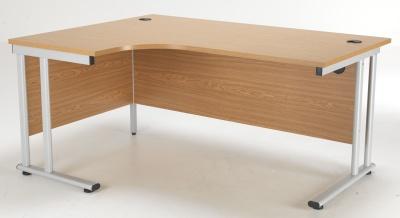 Flite Left Hand Corner Desk In Oak