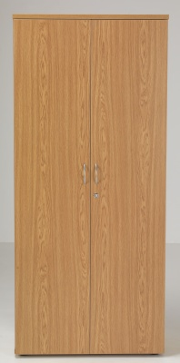 Flite Tall Fouble Door Cupboard In Oak Front Face