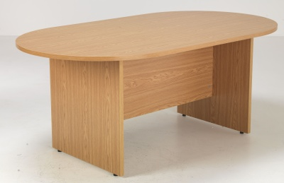 Flite Oval Conference Table In Oak