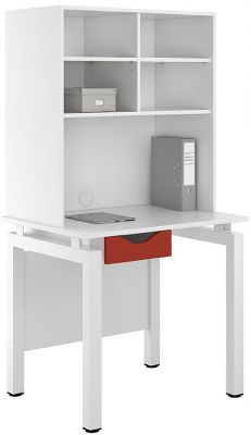 UCLIC Engage Desk And Overhead Storage Red Drawer