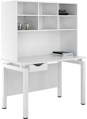 UCLIC Engage Desk With A White Drawer And Overhead Storage