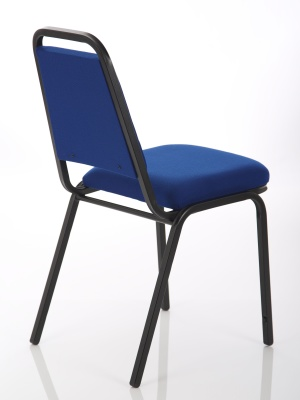 Master Banqueting Chair Blue Fabric Rear Angle