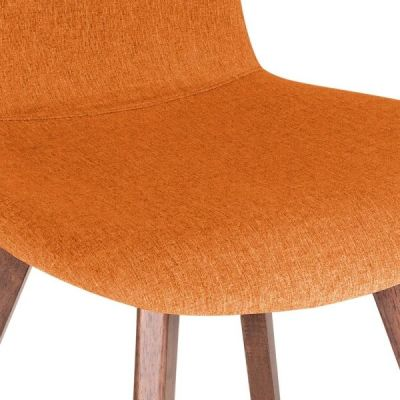Detroit Dining Chair Orange Fabric Detail Shot