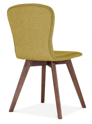 Detroit Dining Chair Olive Green Fabric Rear Angle