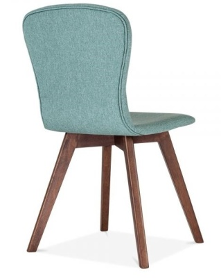 Detroit Dining Chair Teal Fabric Rear Angle