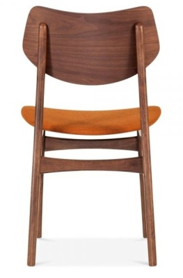 Detroit V2 Dining Chair Orange Fabric Rear View