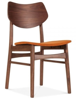Detroit V2 Dining Chair Orange Fabric Front Angle