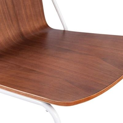 Denever Chair Walnut And White Detail Shot