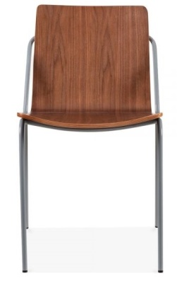 Denver Chair Walnut Shell With A Grey Frame