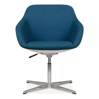 Mexico Lounge Chair Blue Fabric