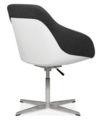 Mexico Lounge Chair Black Fabric Rear Angle
