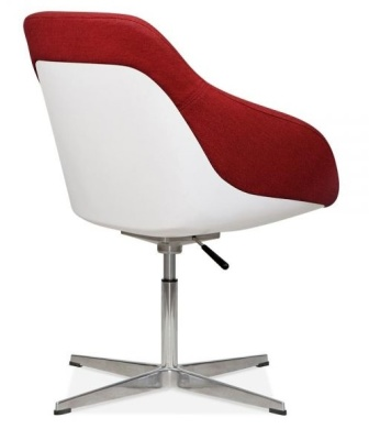 Mexico Lounge Chair Rear Angle Red Fabric