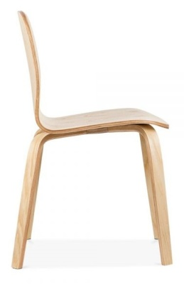 Helsinki Dining Chair Natural Finisgh Side View