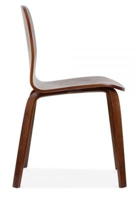 Helsinki Chairs In Walnut Side View