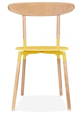 Odense Dining Chair Yellow Seat Front View