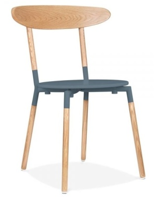 Odense Dining Chair With A Dark Grey Seat Fropnt Angle