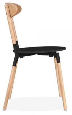 Odense Chair Black Seat Side View