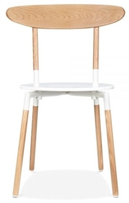 Odense Dining Chair White Sear Rear View