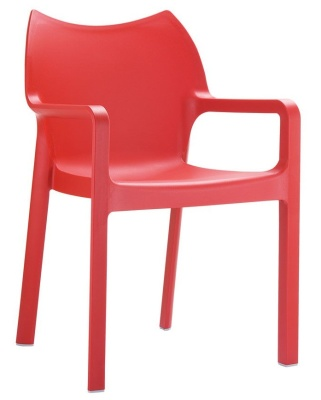 Zodiac Poly Armchair In Red